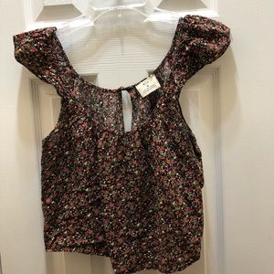 Anthropologie Pins And Needles crop top